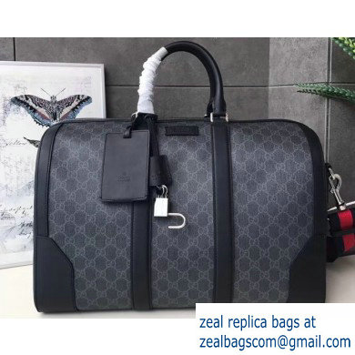 Gucci GG Black Carry-on Duffle Bag 474131