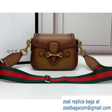 Gucci Small Lady Web Shoulder Bag In Brown 384821