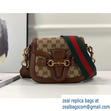 Gucci Small Lady Web gg canvas Shoulder Bag In Brown 384821