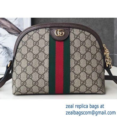 Gucci Web Ophidia GG Canvas Small Shoulder Bag 499621 Coffee