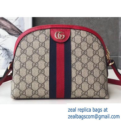 Gucci Web Ophidia GG Canvas Small Shoulder Bag 499621 Red
