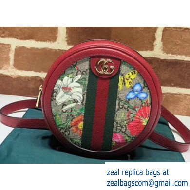 Gucci Web Ophidia GG Flora Print Mini Backpack Bag 598661 Red