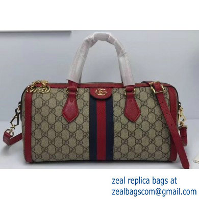 Gucci Web Ophidia GG Top Handle Medium Bag 524532 Red