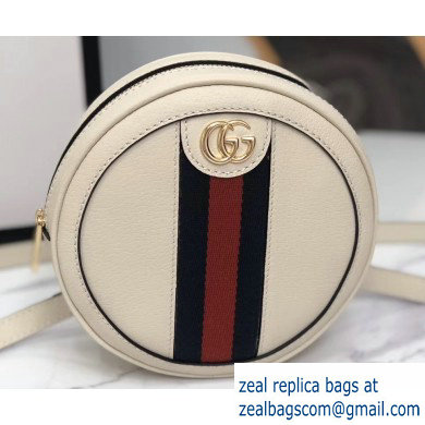 Gucci Web Ophidia Leather Mini Backpack Bag 598661 White