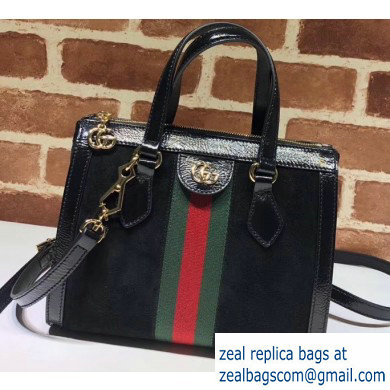 Gucci Web Ophidia Suede Leather Small Tote Bag 547551 Black