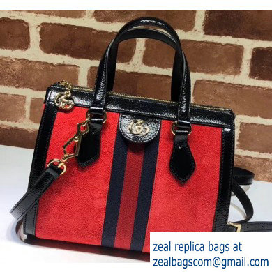 Gucci Web Ophidia Suede Leather Small Tote Bag 547551 Red