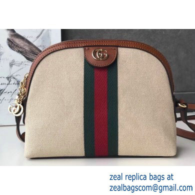 Gucci Web Ophidia Vintage Canvas Small Shoulder Bag 499621