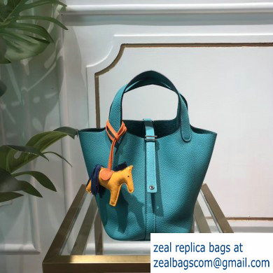 Hermes Picotin Lock Bag in original togo leather Turquoise(handmade)