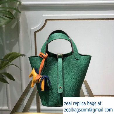 Hermes Picotin Lock Bag in original togo leather bamboo green(handmade)