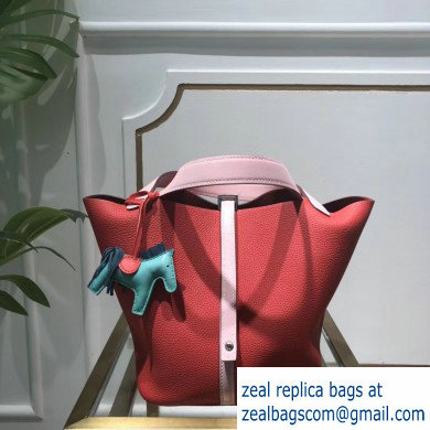 Hermes Picotin Lock Bag in original togo leather pink/red(handmade)