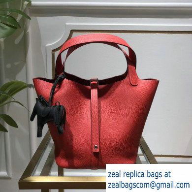 Hermes Picotin Lock Bag in original togo leather red(handmade)