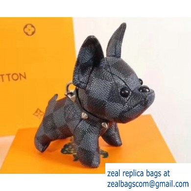 Louis Vuitton Dog Bag Charm and Key Holder Black
