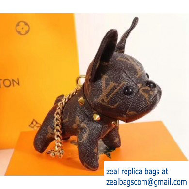 Louis Vuitton Dog Bag Charm and Key Holder Brown