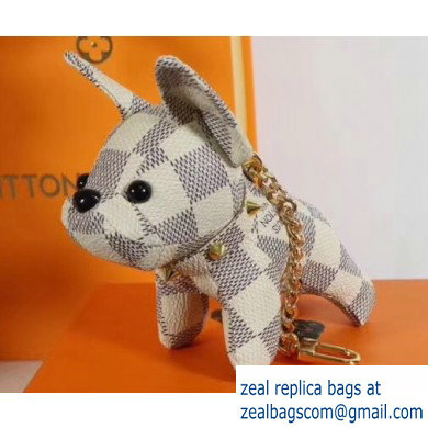Louis Vuitton Dog Bag Charm and Key Holder White
