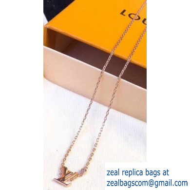 Louis Vuitton Idylle Blossom LV Pendant Necklace Pink Gold