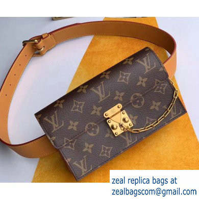 Louis Vuitton Monogram Canvas S Lock Belt Pouch MM Bag M68549 2019