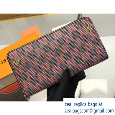 Louis Vuitton Zippy Wallet Damier LV Pop Pink