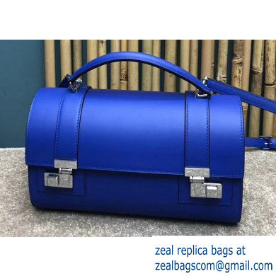 Moynat Natural Cow Leather Cabotin Small City Bag Blue