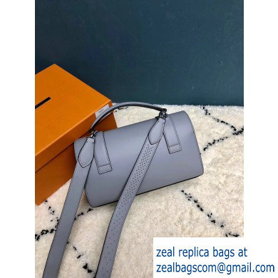 Moynat Natural Cow Leather Cabotin Small City Bag Gray