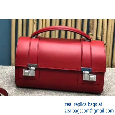 Moynat Natural Cow Leather Cabotin Small City Bag Red