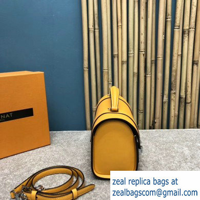 Moynat Natural Cow Leather Cabotin Small City Bag Yellow