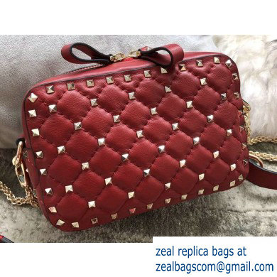 Valentino Rockstud Spike Camera Case Bag 0060 Red