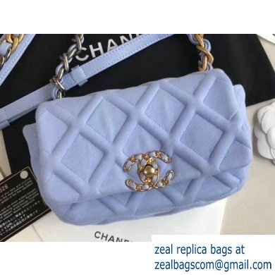 Chanel 19 Jersey Waist Bag AS1163 Baby Blue 2020