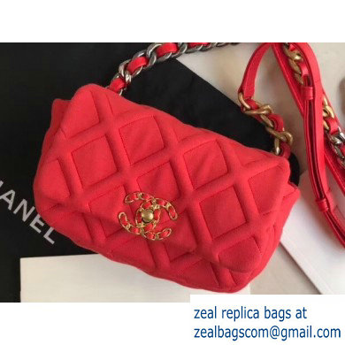 Chanel 19 Jersey Waist Bag AS1163 Red 2020