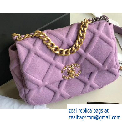 Chanel 19 Small Jersey Flap Bag AS1160 Mauve 2020