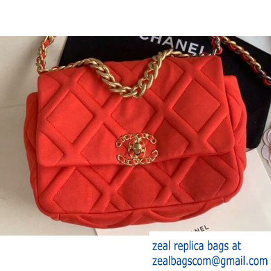 Chanel 19 Small Jersey Flap Bag AS1160 Red 2020 - Click Image to Close