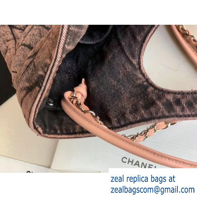 Chanel 31 Denim Large Shopping Bag AS1408 Nude 2020
