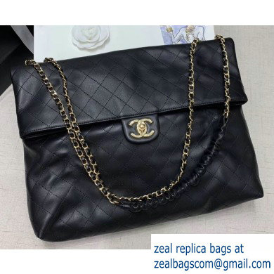 Chanel Calfskin Quilting Leather Flap Bag Black 2020