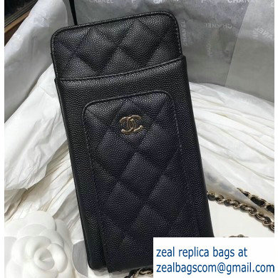 Chanel Classic Clutch with Chain Bag AP0990 Grained Black 2020
