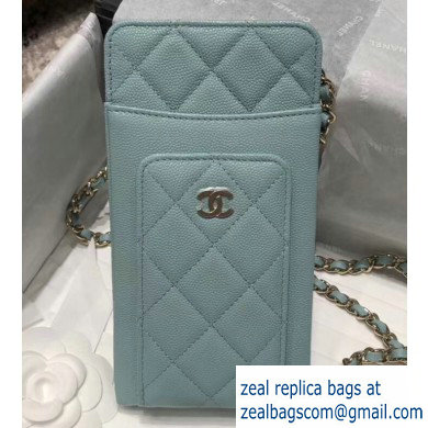 Chanel Classic Clutch with Chain Bag AP0990 Grained Dusty Green 2020