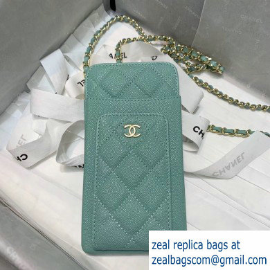 Chanel Classic Clutch with Chain Bag AP0990 Grained Pale Green 2020