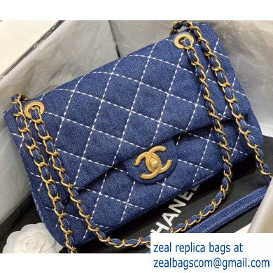 Chanel Denim Small Classic Flap Bag AS1328 2020