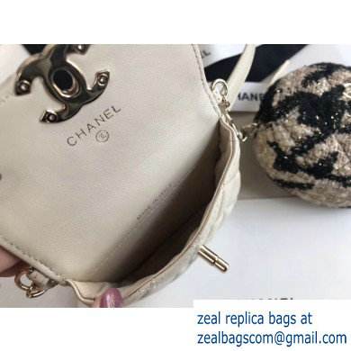 Chanel Lambskin and Tweed Waist Bag and Coin Purse AP0743 White 2020
