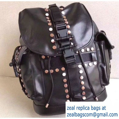 Givenchy Calfskin Backpack Bag 9625 Black/Studs