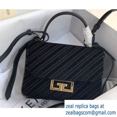Givenchy Chain Mini Eden Bag in GIVENCHY 4G Velvet Black 2020