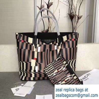 Givenchy Coated Canvas Antigona Shopper Tote Bag 08