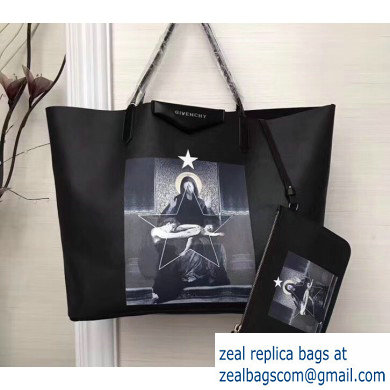 Givenchy Coated Canvas Antigona Shopper Tote Bag 10