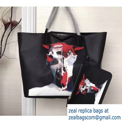 Givenchy Coated Canvas Antigona Shopper Tote Bag 13