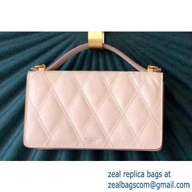 Givenchy Gv3 Strap Wallet in Diamond Quilted Leather Beige