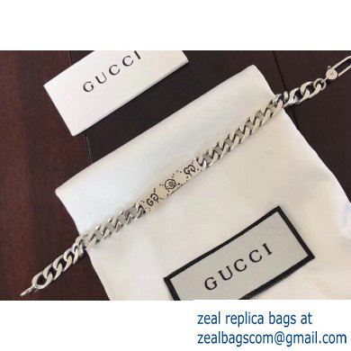 Gucci Guccighost Chain Bracelet In Silver 455321