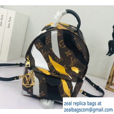 Louis Vuitton LVxLoL Palm Springs Mini Backpack Bag M45143 Gold/Silver Print 2020
