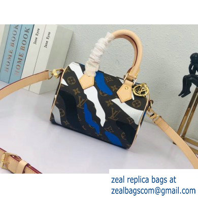 Louis Vuitton LVxLoL Speedy BB Bag M45202 Blue/Silver Print 2020