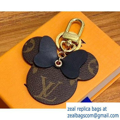 Louis Vuitton Monogram Canvas Bag Charm and Key Holder Mickey Black 2020