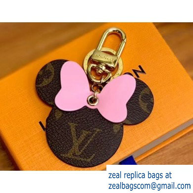 Louis Vuitton Monogram Canvas Bag Charm and Key Holder Mickey Pink 2020