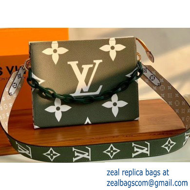 Louis Vuitton Monogram Giant Canvas Toiletry Pouch 26 Bag with Chain and Strap Kaki 2020