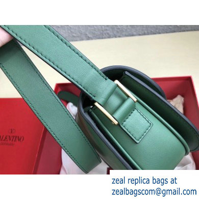 Valentino Supervee Calfskin Crossbody Large Bag Green/Gold 2020